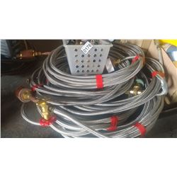 LOT OF LOW PRESSURE HYDRAULIC LINES