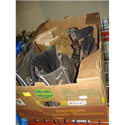 THREE PAIR OF STEEL TOE BOOTS