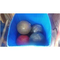 TOTE OF BOWLING BALLS