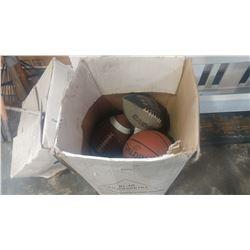 BOX OF SPORTS BALLS