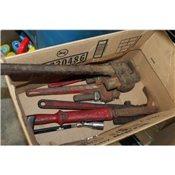 BOX OF MONKEY WRENCHES