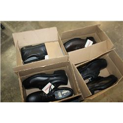 4 PAIRS OF AMERICANA STEEL TOE SHOES