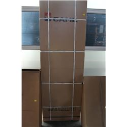 NEW CAML NEO ANGLE PIVOT SHOWER DOOR WHITE AND OBSCURE GLASS