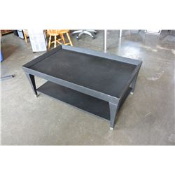 BLACK TROUGH STYLE COFFEE TABLE