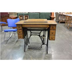 TREADLE BASE SEWING MACHINE TABLE ONLY