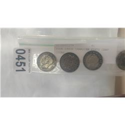 FOUR 1940S CANADIAN FIFTY CENT COINS