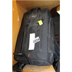 LOWE PRO CAMERA BACKPACK AND CAMERA BAG
