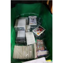 BASKET OF SPORTS CARDS