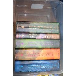 5 HARDCOVER HARRY POTTER BOOKS