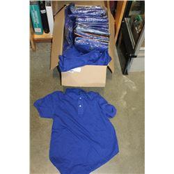 BOX OF SMALL BLUE TSHIRTS