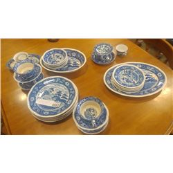 LOT OF OCCUPIED JAPAN AND WILLOW PATTERN DISHES