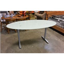 IKEA GALANT GLASSTOP DINING TABLE