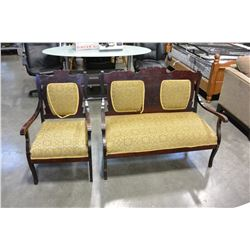 2 PIECE EASTLAKE STYLE LOVESEAT AND CHAIR