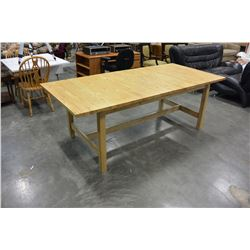 LARGE PINE IKEA DINING TABLE WITH LEAF