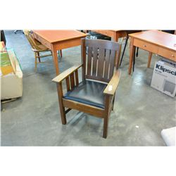 MISSION OAK ARMCHAIR IN GOOD ORIGINAL CONDITION