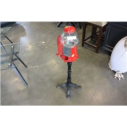 CONTINENTAL GUMBALL MACHINE WITH STAND AND ATTACHED PHONE