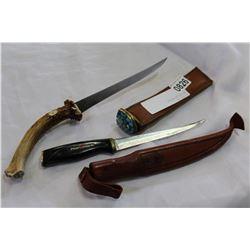 TWO FILLET KNIVES
