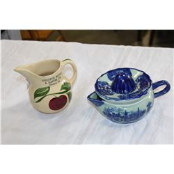 TWO PIECES OF VINTAGE POTTERY