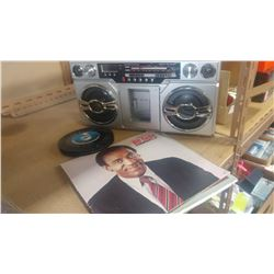 INNOVATIVE TECHNOLOGY BOOMBOX AND RECORDS