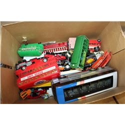 BOX OF DIE CAST AND TOY CARS