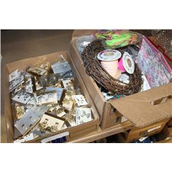 BOX OF CRAFT SUPPLIES AND BOX OF NEW JEWELLRY