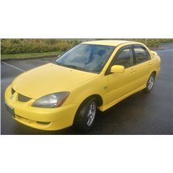 2004 MITSUBISHI LANCER, 4 DOOR SEDAN, AUTOMATIC, 199533KM WITH KEY AND FOB AND REGISTRATION