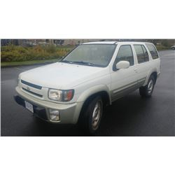 1997 INFINITI QX4, 4 DR SUV, 330228KM, AUTOMATIC, 4X4, REMOTE START AND STOP, WITH KEY AND FOB AND R