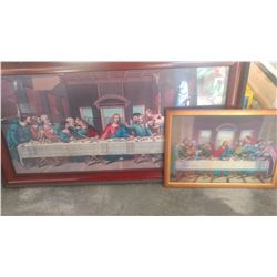 2 LAST SUPPER PRINTS
