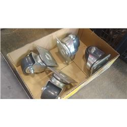 FOUR HEAVY DUTY CASTORS