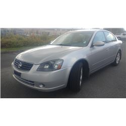 2005 NISSAN ALTIMA 4 DOOR SEDAN, AUTOMATIC, 234360KM, WITH 2 KEYS 2 FOBS AND REGISTRATION
