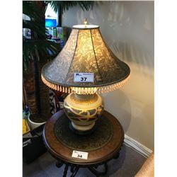 PAISLEY SHADE EGYPTIAN STYLE TABLE LAMP