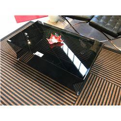 BLACK GLASS MODERN COFFEE TABLE