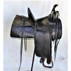 Miles City Tooled Saddle