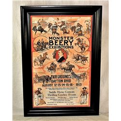 Monster Berry Horse Exhibiton Poster
