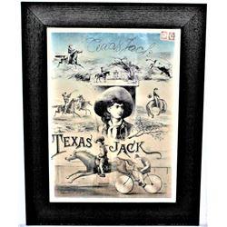 Rare Texas Jack Lithograph
