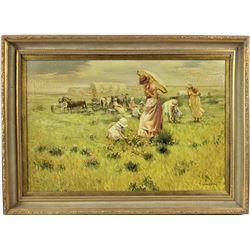 T. Hampton Oil Painting