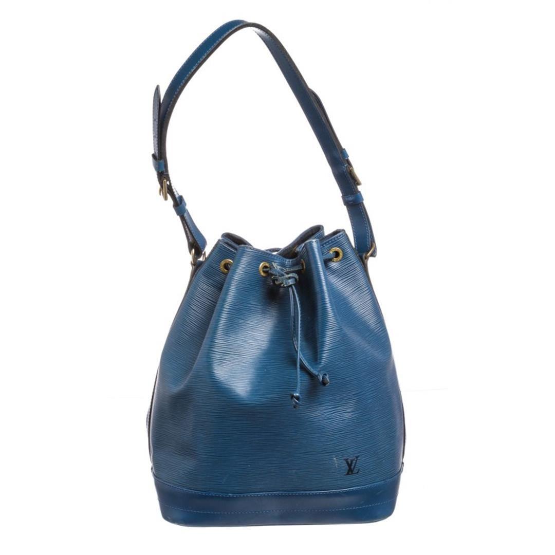 5c2fbdf63f46 Image 1   Louis Vuitton Blue Epi Leather Noe GM Drawstring Shoulder Bag ...