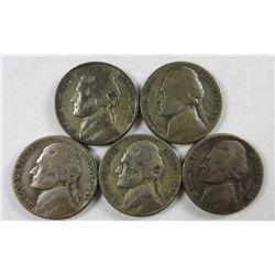 1945-D Jefferson Nickels