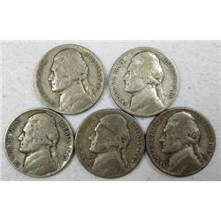 1943 Jefferson Nickels
