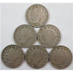 1912 Liberty Head Five Cents
