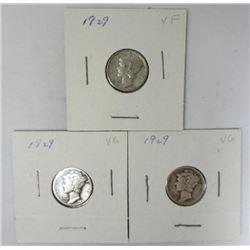 1929 Mercury Dimes