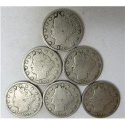 1912 Liberty Head Nickels