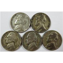 1945 Jefferson Nickels