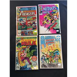 MARVEL & DC 1980'S KEY BRONZE/COPPER AGE ANNUALS X 4 ISSUES (1977-86) INCLUDES AVENGERS ANNUAL #10