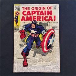 CAPTAIN AMERICA #109 (1969) ORIGIN CAP RE-TOLD/CLASSIC KIRBY COVER - MID GRADE