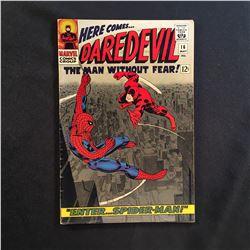 DAREDEVIL #16 (1966) 1ST JOHN ROMITA ART ON SPIDER-MAN/CLASSIC COVER - MID GRADE