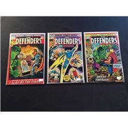 DEFENDERS #1,10 & 28 (1972-75) 1ST ISSUE + CLASSIC HULK VS. THOR BATTLE ISSUE & 1ST FULL APP