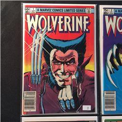 WOLVERINE #1-4 COMPLETE SET (1982) CHRIS CLAREMONT & FRANK MILLER'S INSTANT CLASSIC - HIGHER  MID