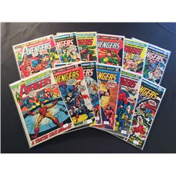 """AVENGERS #106-113 &115-118 (1972-73) EARLY BRONZE AGE RUN OF """"EARTH'S MIGHTIEST HEROS!"""" INCLUDES"""