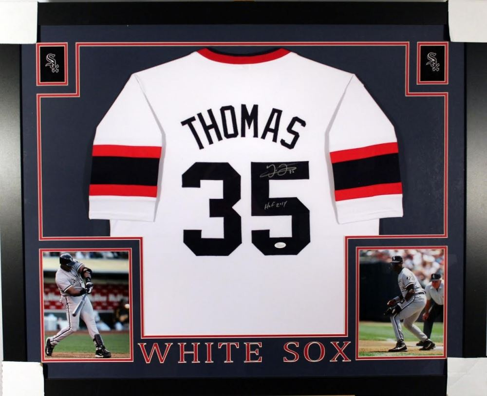 huge discount 34c35 9537a Frank Thomas Signed White Sox 35x43 Custom Framed ...